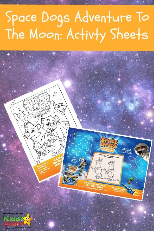 We've got some great Space Dogs activities for the kids - nip along and download them now to give them something to do. Space Dogs colouring pages to keep them entertained