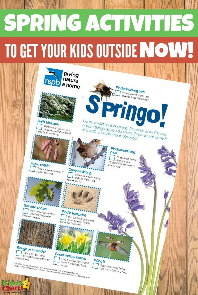 Spring activities to get your kids outside