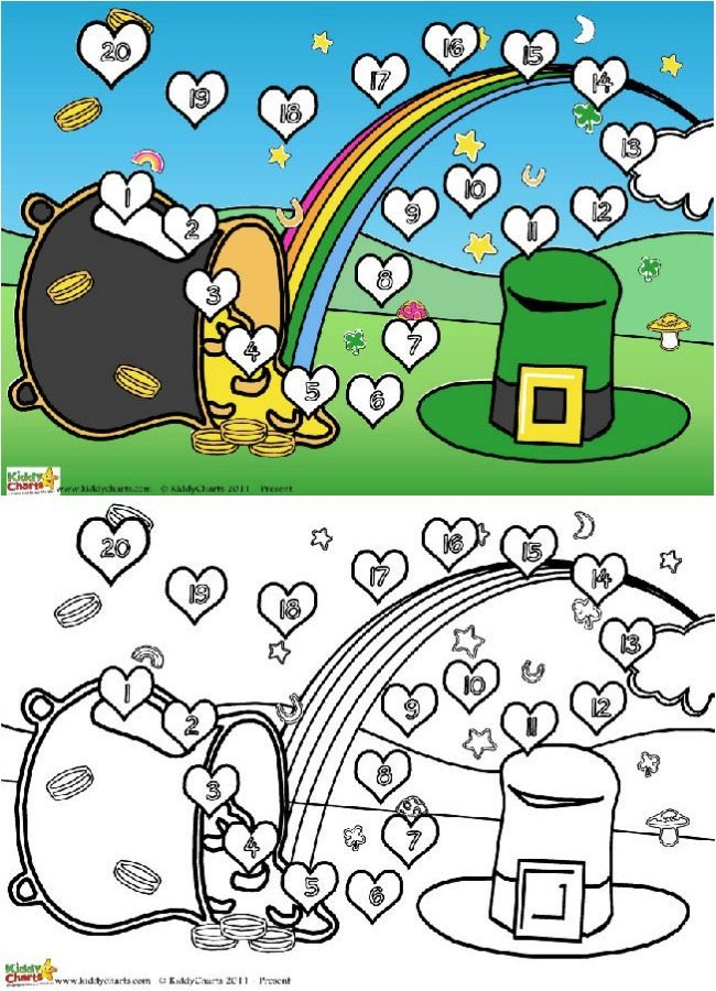 St Patricks Day reward charts for little ones