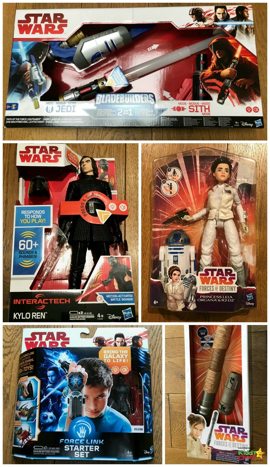 We have a Star Wars Last Jedi Toys review for you - and here they all are boxed and ready to go!