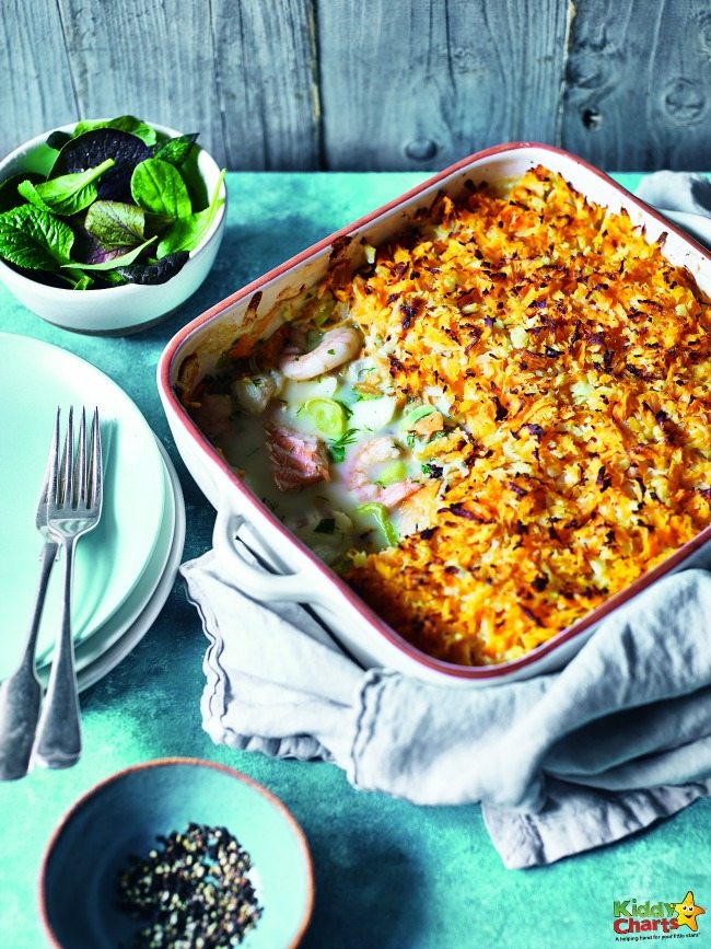 Sweet Potato Gratin Fish Pie Recipe #Braindietforkids #brainfood #healthyeating