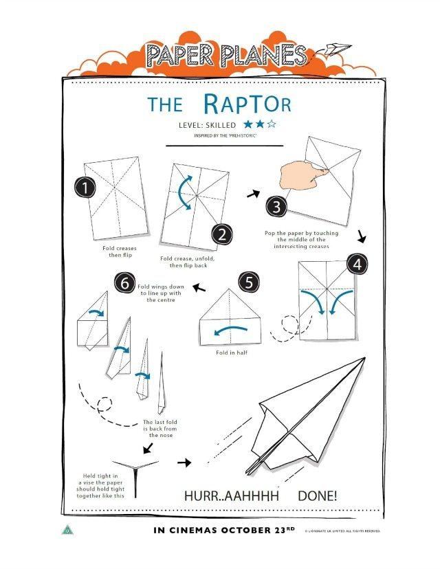 The Raptor printable paper plane tutorial