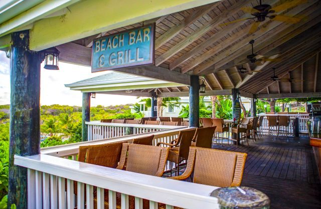 The beautiful Beach Bar and Grill at the Verandah Resort and Spa