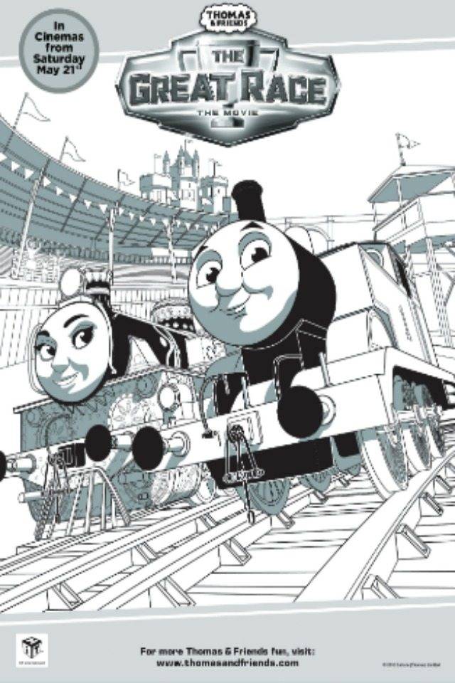 Thomas Colouring Pages: The Great Race