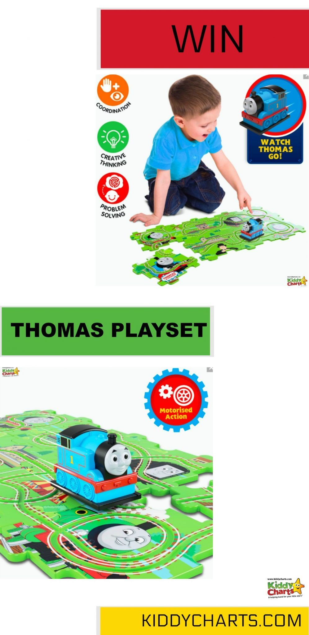 Win a gorgeous Thomas playset for your kids (Closes 24th May) #kids #giveaways #toys