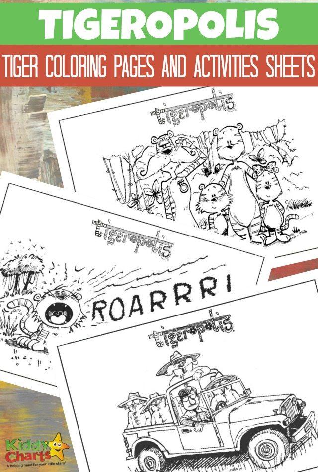 Tigeropolis - Tiger coloring pages and activity sheets