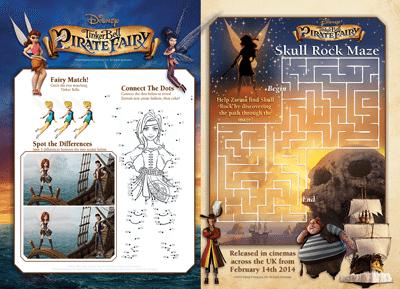 Tinkerbell Activities Sheet