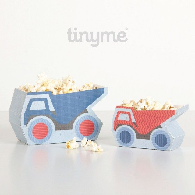 Looking for ideas for a construction birthday party - what about these fantastic truck popcorn holders...don't you just LOVE them!