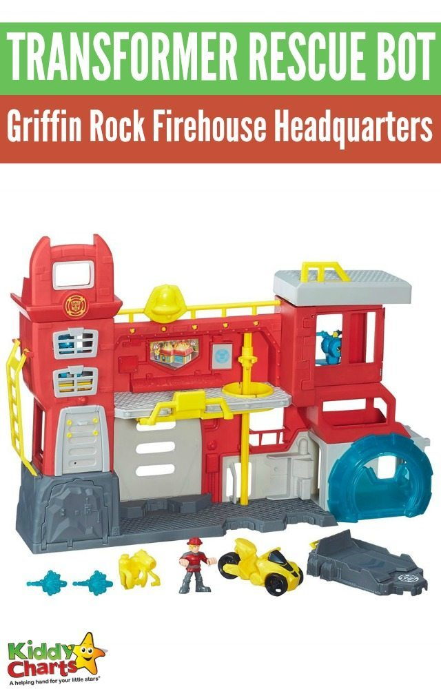 Transformer Rescue Bot Griffin Rock Firehouse Headquarters playset