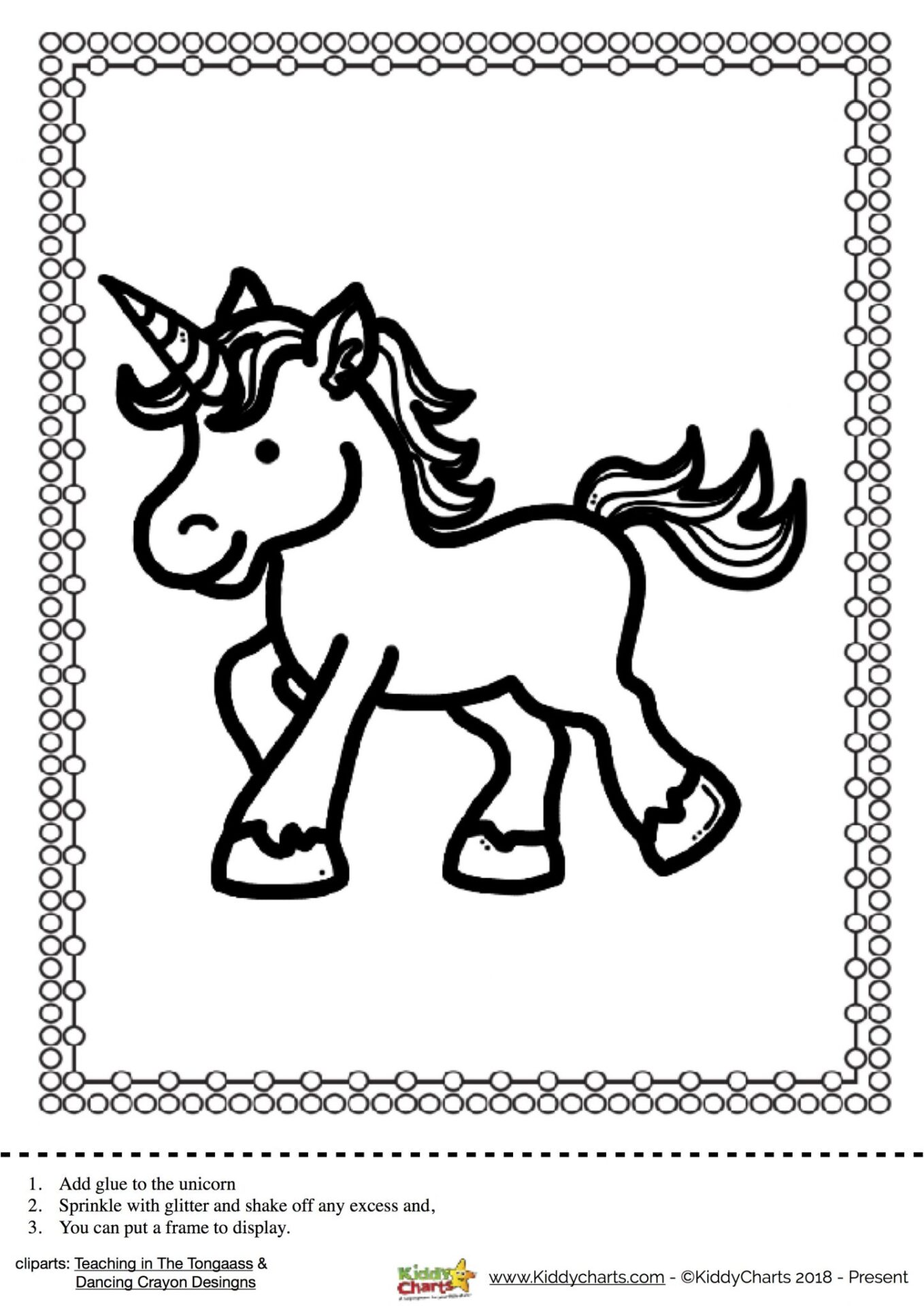 Create your own gorgeous Unicorn wall art with our lovely Unicorn printable template