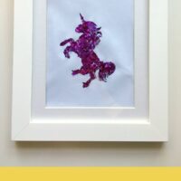Unicorn craft: Glitter art