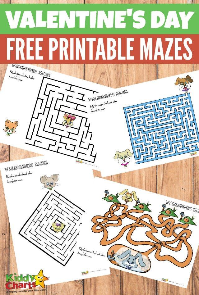 Valentine's Day maze activity