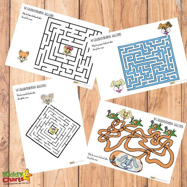 Valentine's Day printable maze activity