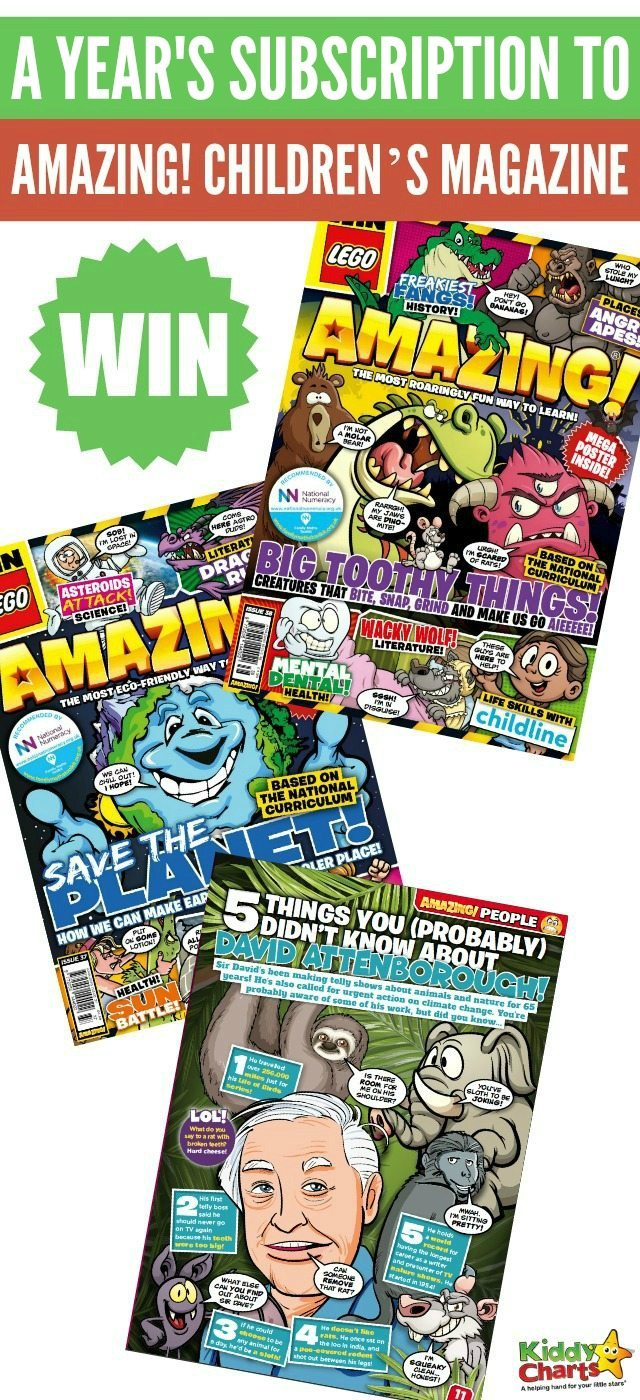 WIN a years' subscription to AMAZING! Children's Magazine! #KiddyChartsAdvent