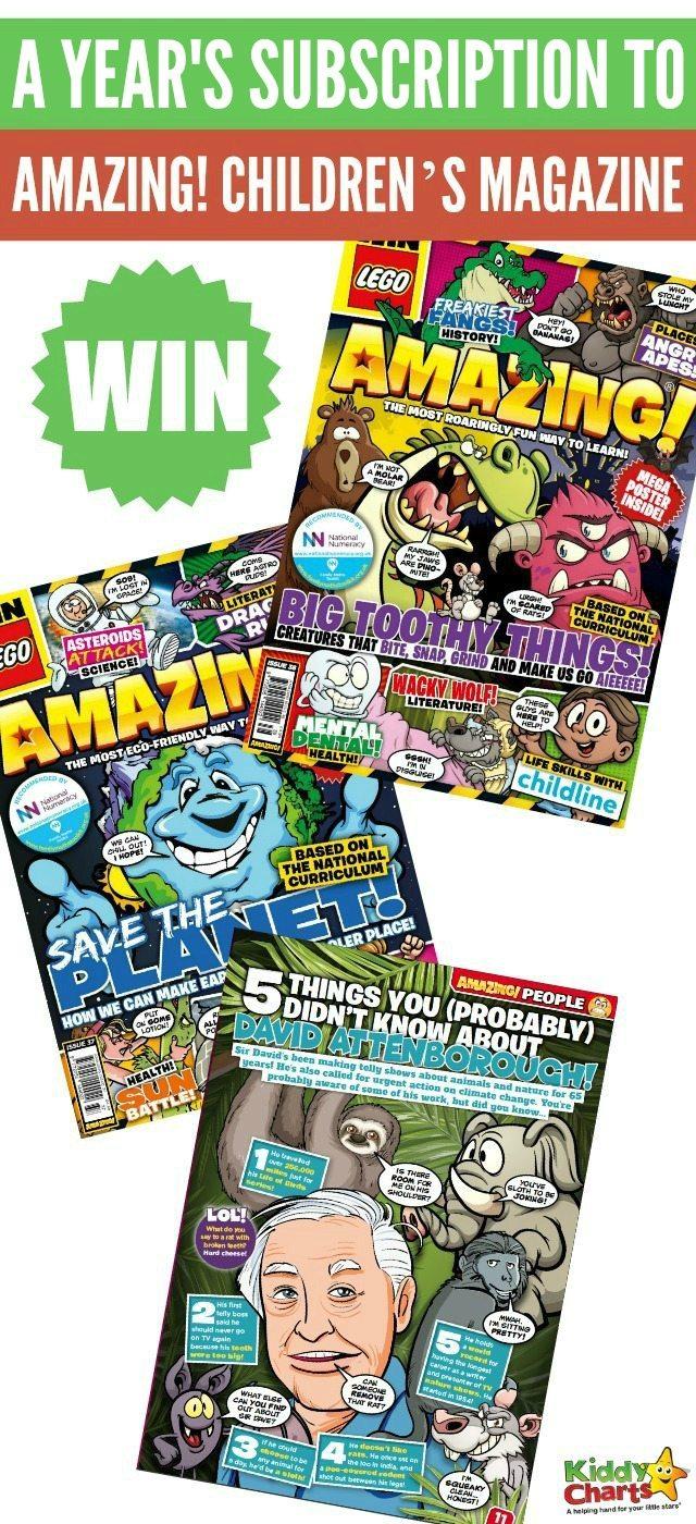 WIN a years' subscription to AMAZING! Children's Magazine! #KiddyChartsAdvent