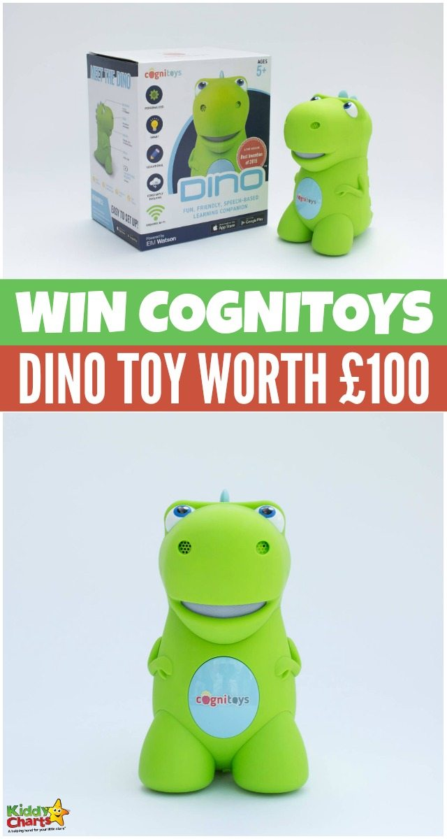 Win Cognitoys Dino Toy worth £100 #KiddyChartsAdvent