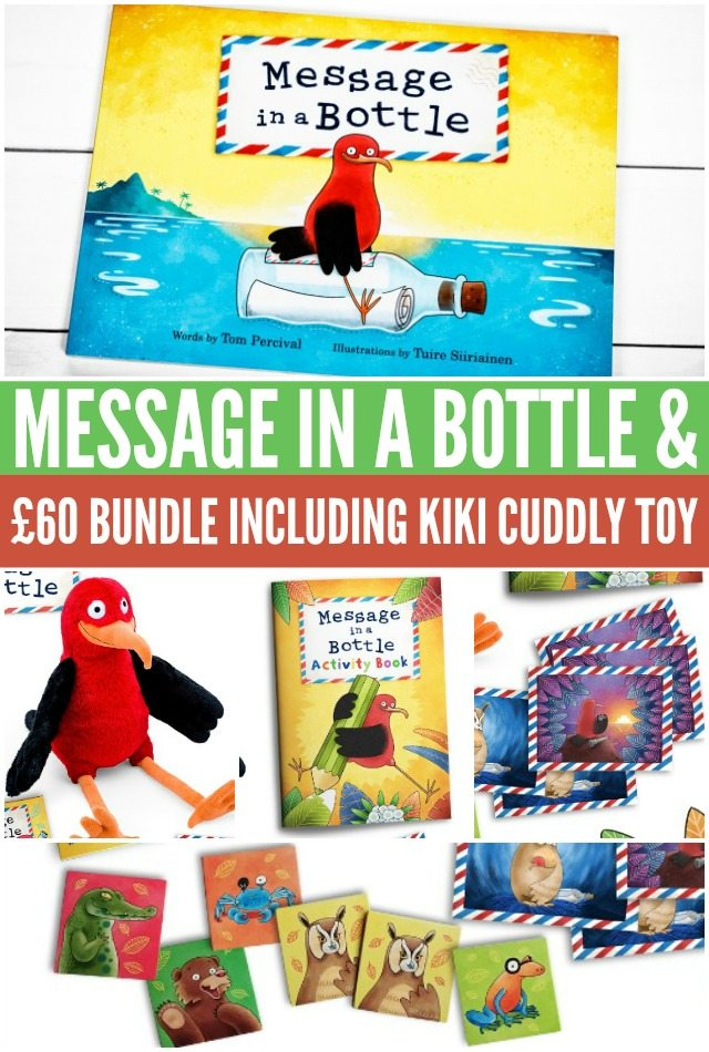 Win Message in a Bottle £60 bundle including Kiki cuddly toy
