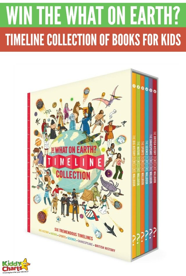 Win The What on Earth? Timeline Collection of books to educate your kids! #KiddyChartsAdvent