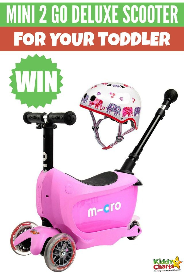 Win a Mini 2 Go Deluxe scooter for your toddler #KiddyChartsAdvent