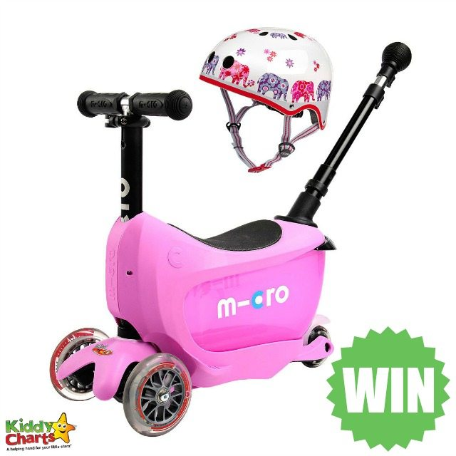 Win a Mini 2 Go Deluxe scooter for your toddler