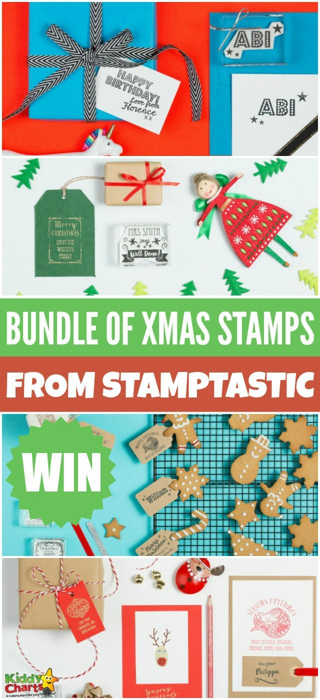 Win amazing bundle of Christmas stamps from Stamptastic for an easier Xmas! #giveaway #freestuff #winChristmasstamps