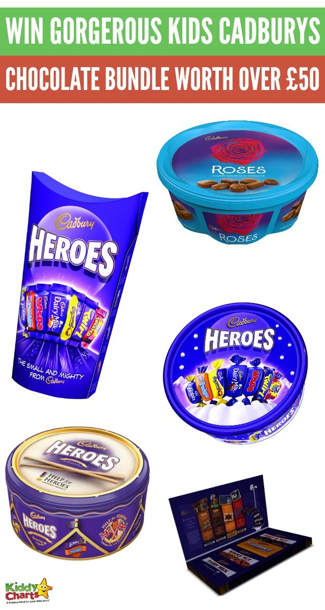 Win gorgerous kids Cadburys chocolate bundle worth over £50; because we love spoiling you!