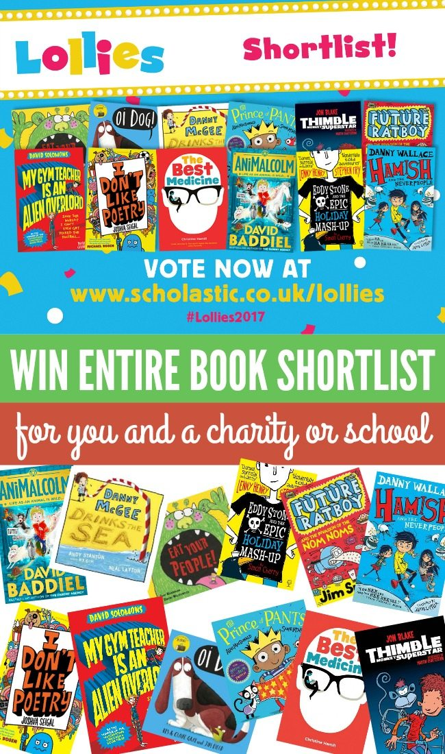 Win the entire funny book shortlist for you and a charity or school!