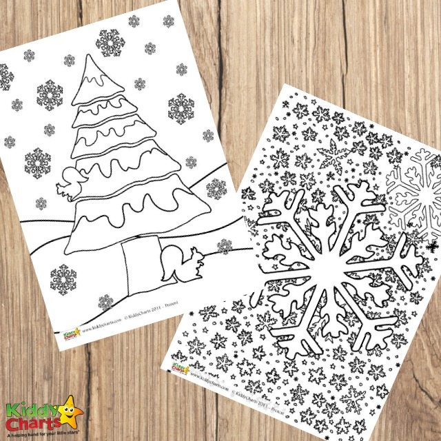 Winter colouring pages for adults and kids