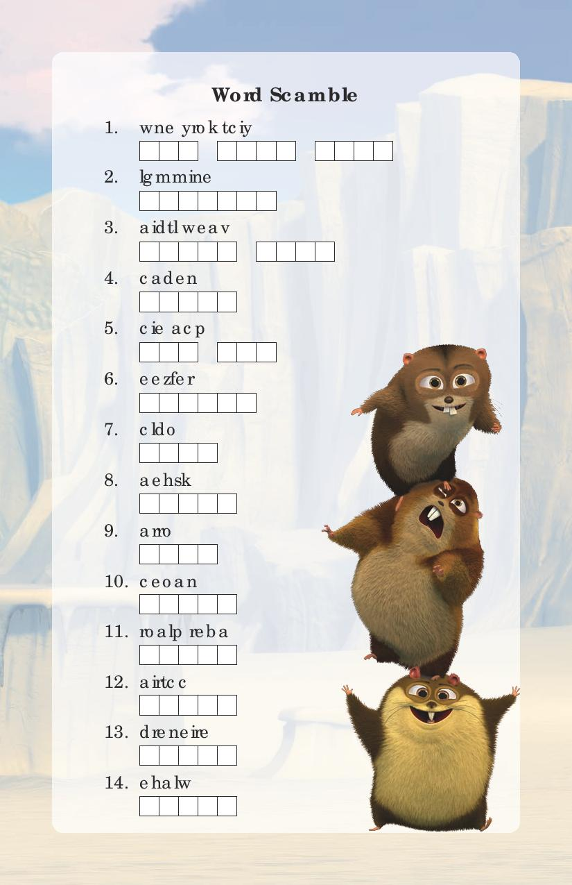 Norm of the North Word Scramble