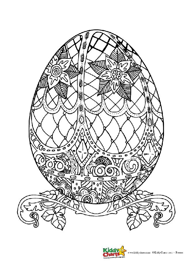 Easter Egg Coloring Pages For Kids And Adults Kiddycharts