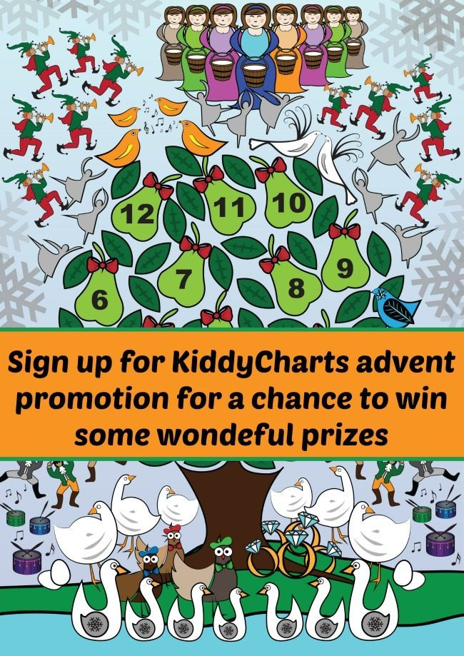 Who loves a good giveawway? So do we! Sign up for the KiddyCharts mailing list and have a chance of winning £1000s worth of prizes for Chrsitmas presents this year for yourself and the kids.