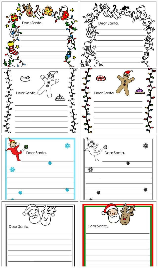 Here are all the dear santa letter templates for you - from Fairy lights to gingerbread men, your kids can find the perfect notepaper to write their Santa letter on.