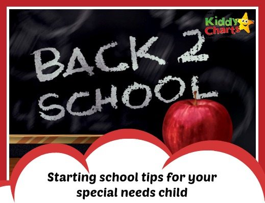 Back to school graphic that takes you to a blog post on tips for preparing your special needs child for back to school