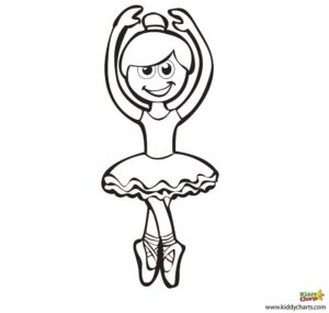 free-ballerina coloring pages