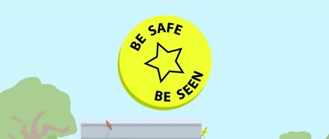 Be safe be seen in a UK campaign to help kids stay safer on the roads at night as the nights draw in.