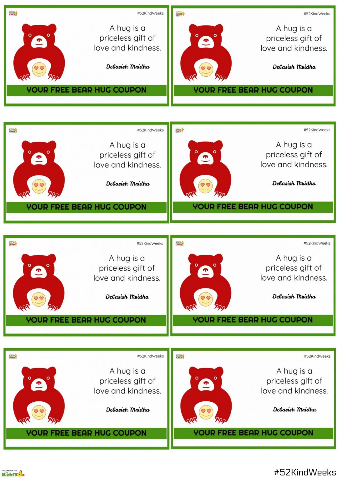 We have some free bear coupons to give out whenever you want! #bekind2017 #kindness #raok