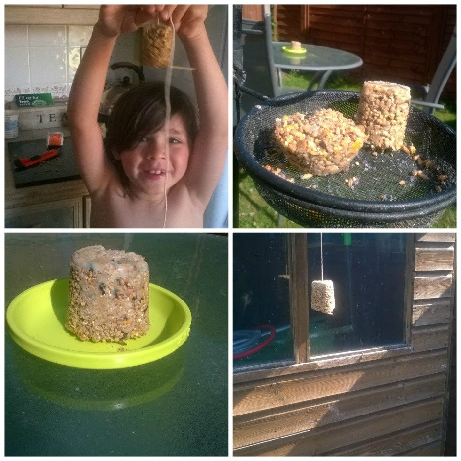 This is a great activity for the summer - making your own bird feeder with the kids!  They really will love getting stuck in with this one.