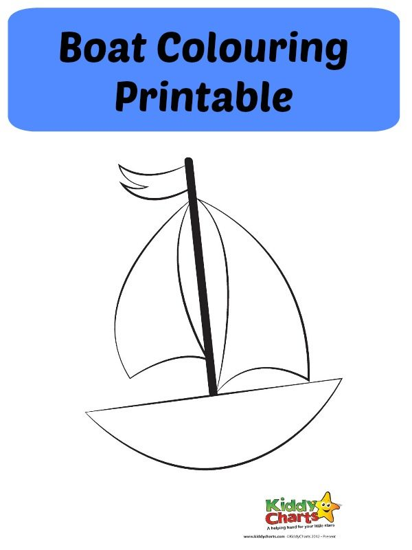 boat coloring printable