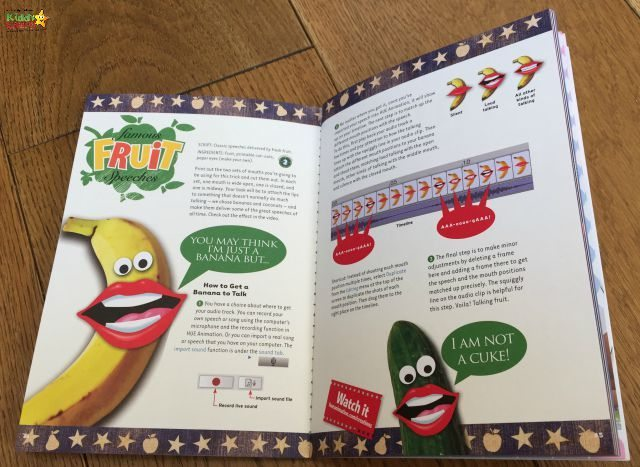 Want to know how to create talking fruit, then the Hue book of animation is for you...it comes with the kit and really helps the kids get off to a flyer!