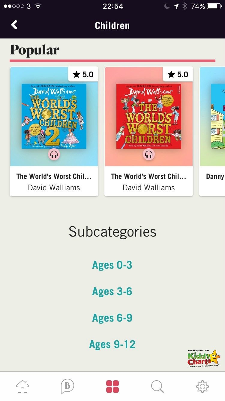 BookBeat audiobooks as well as being an option for reluctant readers, have a number of books for different age groups.
