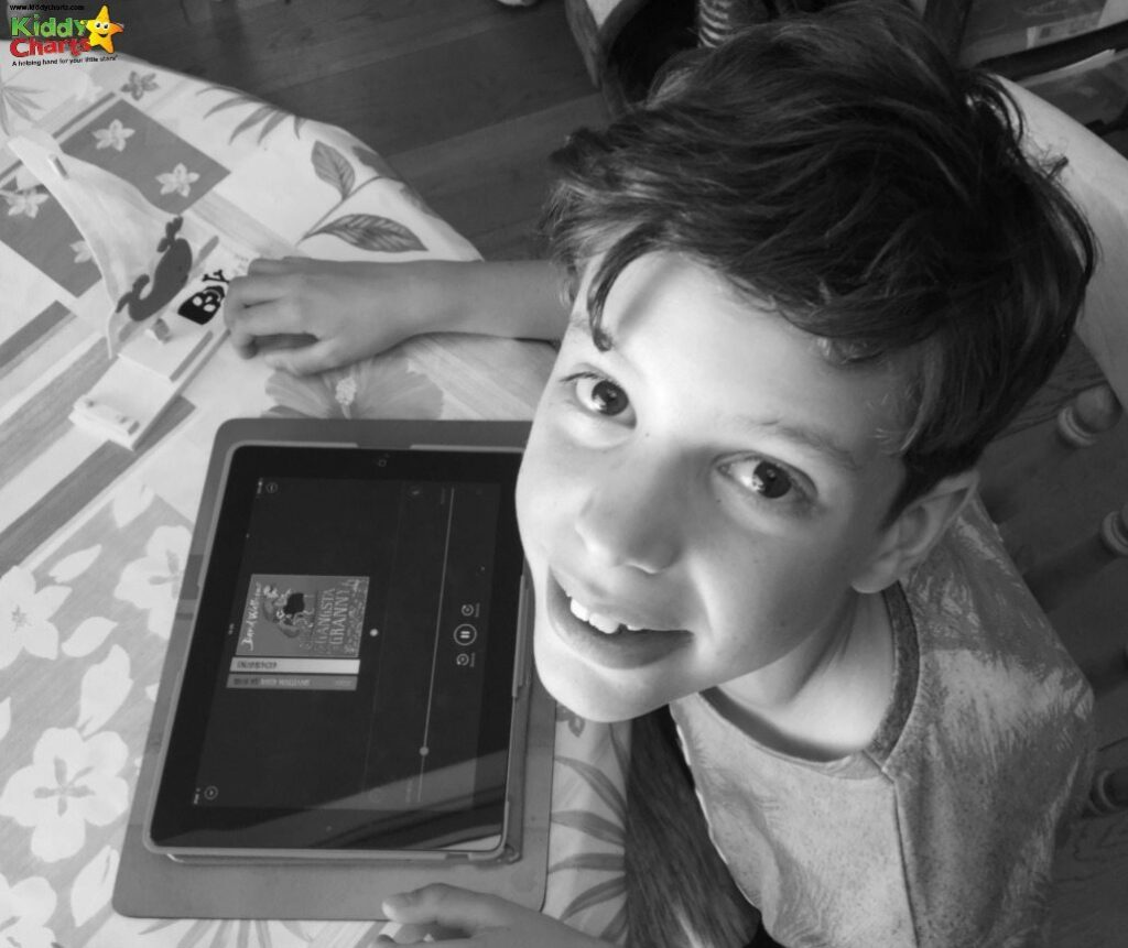 Bookbeat audiobooks made my reluctant reader smile - can't you see?