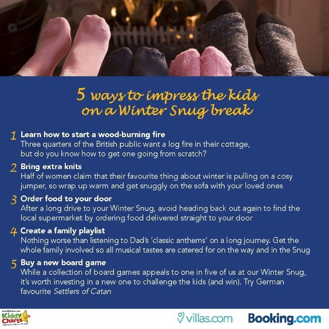 What can YOU do on holidays with the kids in the winter to impress them - five ideas here, and activities in the blog post too!