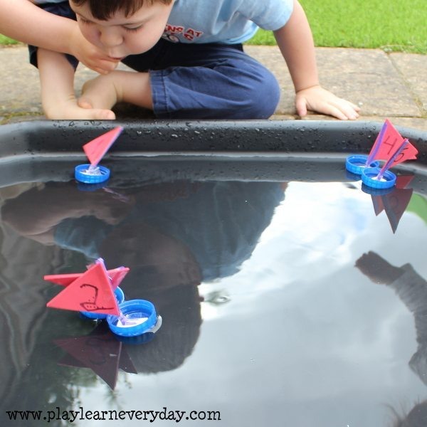 bottle cap sail boats - ethan racing boats