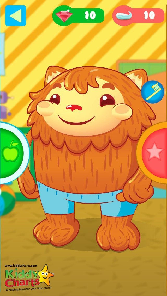 Brushing with Mom has the best reward system of the 8 apps that we looked into - my kids are loving dressing and feeding momo before they clean their teeth!