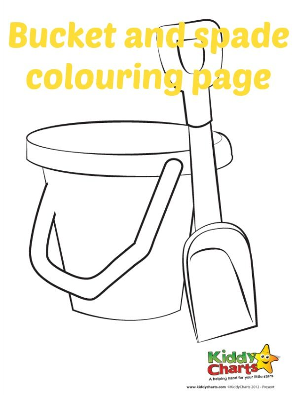 Download our bucket and spade coloring page in today's summer countdown