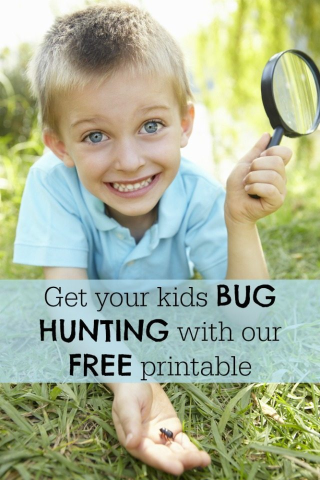 If you want your kids to get active in the garden - why not download this free bug hunt printable. And if its raining - you can still hunt them inside too; just take a look! ;-)