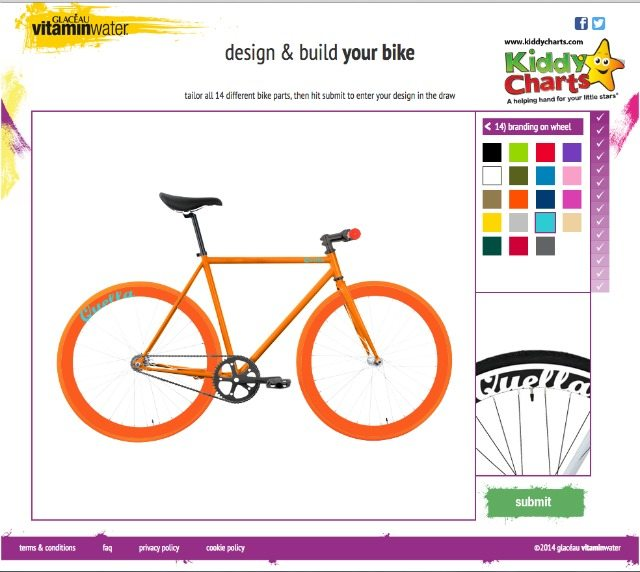 Screenshot for those entering the build a bike vitamin water competition