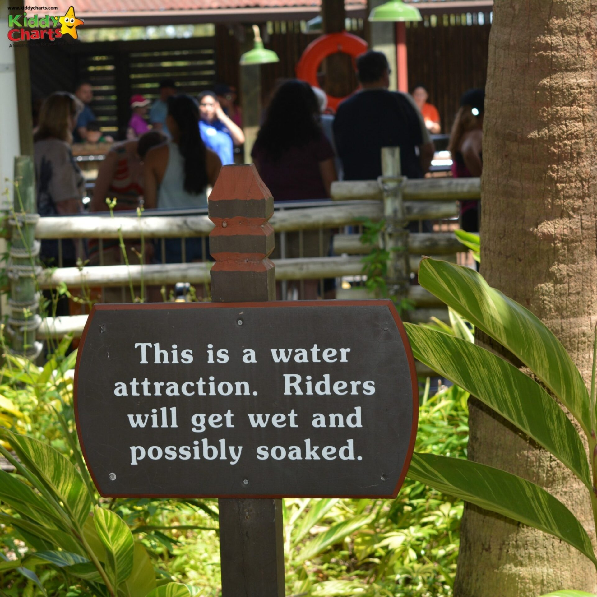 If you are in busch gardens with the kids - prepare to get wet!