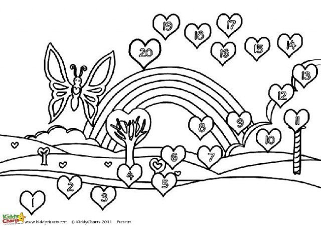 A black and white version of our butterfly valentine reward chart, so the kids can colour this one in while they potty train!