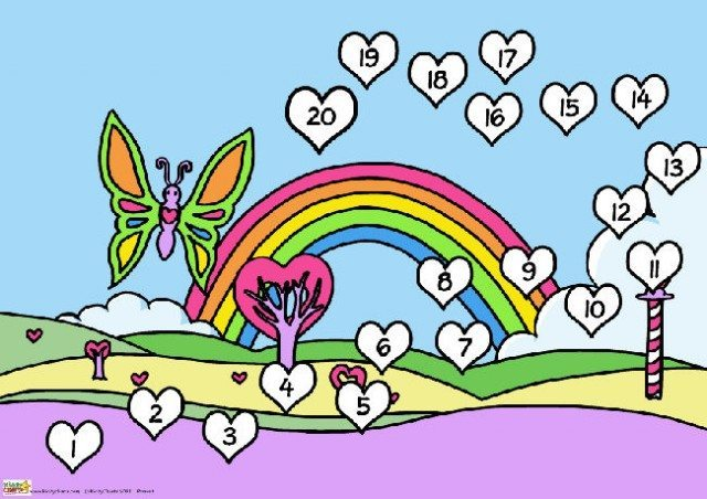 Butterfly Valentines reward chart for the kids - this one is full colour, so you can get help with those little challenges. Free to download, so why not do it now?